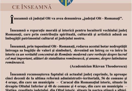 Material informativ realizat de Consiliul Judetean Olt