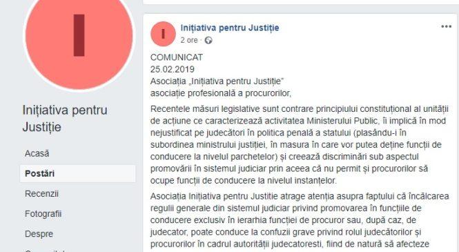 """Procurorii din """"Inițiativa pentru Justiție"""" cer demisia lui Tudorel Toader"""